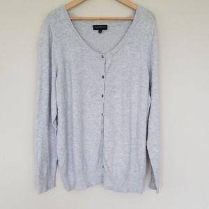 Lane Bryant gray cardigan sweater 26/28